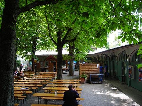 Пивной садик в Баварии