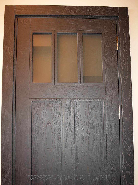Двери межкомнатные высокие – шпон дуба