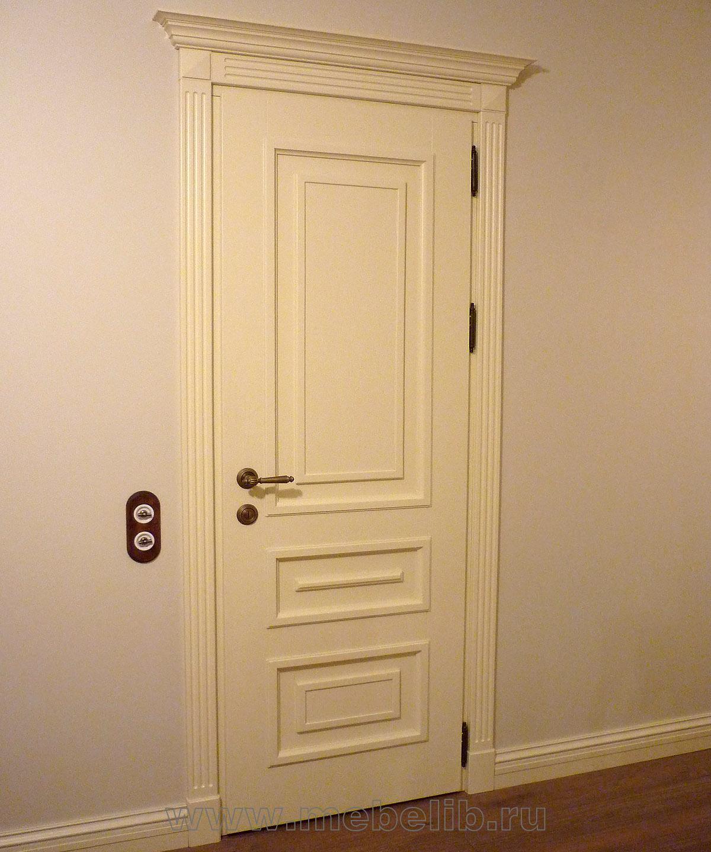 Межкомнатные двери – эмаль белая, массив дуба